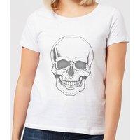 Skull Women's T-Shirt - White - S - White