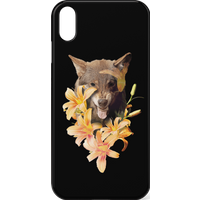 Wolfish Flowers Phone Case for iPhone and Android - iPhone XS - Snap Case - Matte