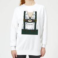 Oktoberfest Mens Chest Women's Sweatshirt - White - S - White