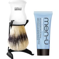 men- Barbiere Shave Brush and Stand - White