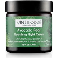 Crema hidratante de noche aguacate y pera Antipodes 60g