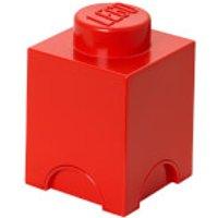 Lego 1 Stud Brick Container - Tamaño Único - Rojo