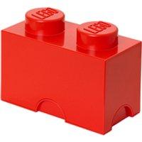 Ladrillo de almacenamiento LEGO (2 espigas) - Rojo