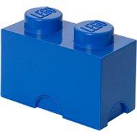 Ladrillo de almacenamiento LEGO (2 espigas) - Azul