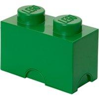 Ladrillo de almacenamiento LEGO (2 espigas) - Verde