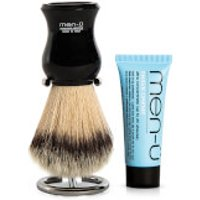 men   DB Premier Shave Brush with Chrome Stand   Black