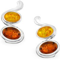 Amber Oval Drop Earrings - One Size - Jewellery Gifts