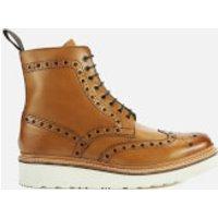 Grenson Men's Fred V Brogue Boots - Tan - UK 11 - Tan