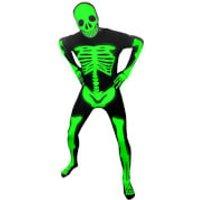 Morphsuit Adults' Glow in the Dark Skeleton - Black - M