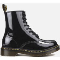 Dr. Martens Womens 1460 W Patent Lamper 8-Eye Boots - Black - UK 5 - Black