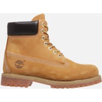 Timberland Mens Icon 6 Inch Premium FTB Leather Boots - Wheat - UK 12 - Tan