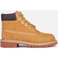 Timberland Kids 6 Inch Premium Waterproof Boots - Wheat - UK 2.5 Kids - Tan