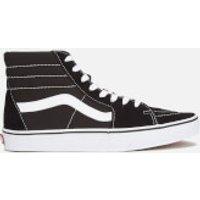 Vans Sk8-Hi Canvas Hi-Top Trainers - Black/White  - UK 8 - Black/White