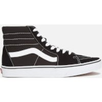 Vans Sk8 Hi-Top Trainers - Black/White - UK 3 - Black