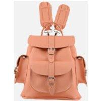 Grafea Peaches & Cream Medium Leather Rucksack - Peach