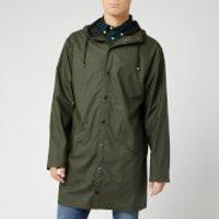 RAINS Men's Long Jacket - Green - S/M