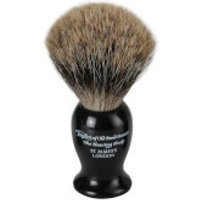 Taylor of Old Bond Street Black Pure Badger Shaving Brush (Medium)