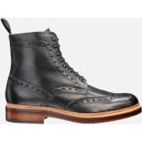 Grenson Men's Fred Brogue Boots - Black - UK 7 - Black