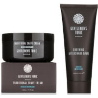 Gentlemen's Tonic Shaving Duo - Traditional Shave Cream and Soothing Aftershave Balm