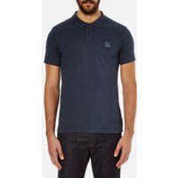 BOSS Orange Mens Pascha Slim Block Branded Polo Shirt - Navy - S - Navy