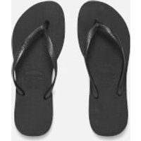 Havaianas Womens Slim Flip Flops - Black - EU 35-36/UK 2-3 - Black