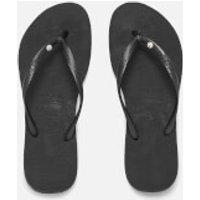 Havaianas Women's Slim Swarovski Crystal Glamour Flip Flops - Black - EU 35-36/UK 2-3 - Black