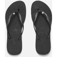 Havaianas Women's Slim Swarovski Crystal Glamour Flip Flops - Black - EU 37-38/UK 4-5 - Black