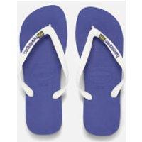 Havaianas Brasil Logo Flip Flops - Marine Blue - EU 39-40/UK 6-7 - Blue