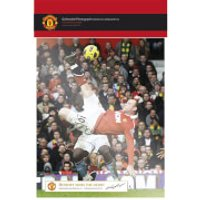 Manchester United Rooney Derby Goal - 10   x 8   Bagged Photographic - Manchester United Gifts