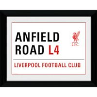 Liverpool Anfield Street Sign - 16 x 12 Framed Photographic