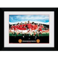 Manchester United Legends Framed Photograph 8 x 6 Inch - Manchester United Gifts
