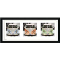 VW Californian Camper Triptych - 30 x 12 Framed Photographic