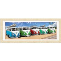 VW Californian Camper Campers Beach - 30   x 12   Framed Photographic - Beach Gifts