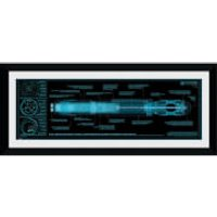Doctor Who Sonic Screwdriver - 30 x 12 Framed Photographic