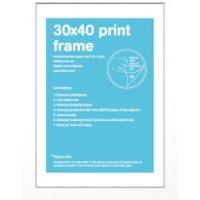 White Frame - 30 x 40 cm