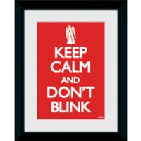Doctor Who Keep Calm Don't Blink - 30 x 40cm Collector Prints - Doctor Who Gifts