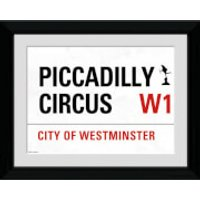 London Piccadilly Circus Street Sign - 30 x 40cm Collector Prints