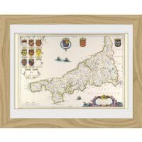 Maps Cornwall - 30 x 40cm Collector Prints - Maps Gifts