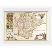 Maps Devon - 30 x 40cm Collector Prints - Maps Gifts