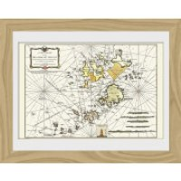 Maps Isle Of Scilly - 30 x 40cm Collector Prints - Maps Gifts