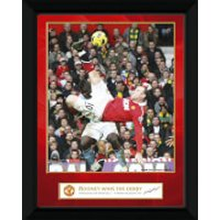 Manchester United Rooney Derby Goal - 8 x 6 Framed Photographic