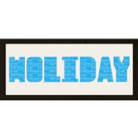GB Cream Mount Holiday Arial Photo Font - Framed Mount - 12   x 30 - Holiday Gifts