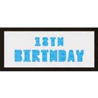 GB Cream Mount 18th Birthday Photo Font - Framed Mount - 12   x 30 - 18th Birthday Gifts