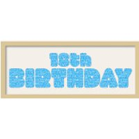 GB Cream Mount 18th Birthday Fatty Font - Framed Mount - 12   x 30 - 18th Birthday Gifts
