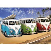 VW Californian Camper Campers Beach - Giant Poster - 100 x 140cm - Beach Gifts
