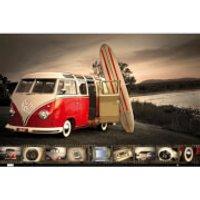 VW (Brendan Ray) Kombi Surfboard - Maxi Poster - 61 x 91.5cm