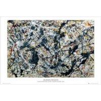 Pollock Silver on Black - Maxi Poster - 61 x 91.5cm