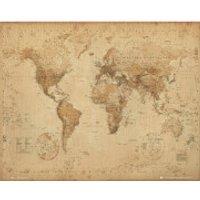 World Map Antique Style - Mini Poster - 40 x 50cm