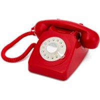 GPO Retro 746 Rotary Dial Telephone - Red