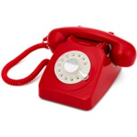 GPO Retro 746 Rotary Dial Telephone - Red